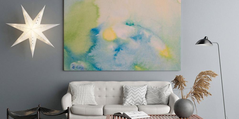 Bedruckte Wandspanndecke