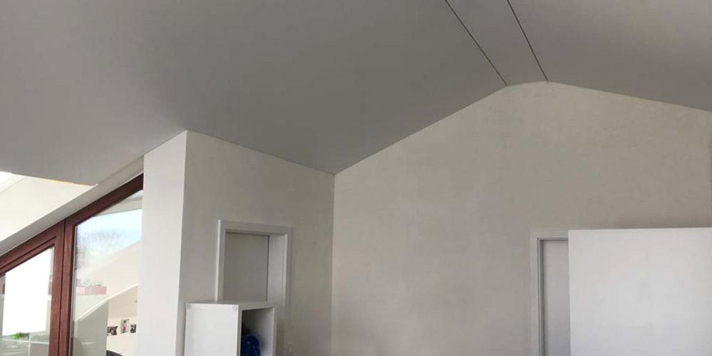 Spanndecken im Dachgeschoss